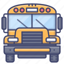 school, bus, transport, vehilcle icon