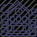 building, education, high, school icon