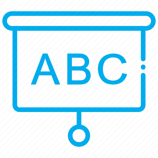 abc, board, learning icon