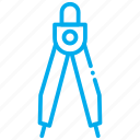 compas, compasses, drawing, geometry, math, painting icon