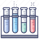 tubes, lab, test, chemistry icon