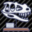 dinosaur, museum, paleontology, skull icon