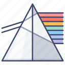 dispersion, education, physics, spectrum icon
