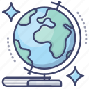 geography, earth, globe, education icon
