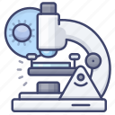 bacteria, microscope, science, virus icon