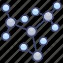 cell, education, molecule, science icon