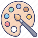 color, paint, painting, palette icon