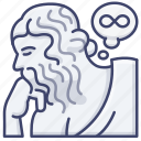 mind, think, thought, philosophy icon