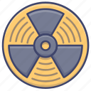 atomic, danger, nuclear, radiation icon
