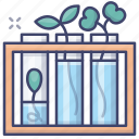 natural, science, plants, flasks icon
