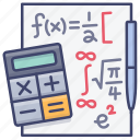 formula, math, mathematics, maths icon