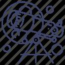 telescope, astronomy, moon, education icon