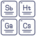 chemistry, elements, periodic, table icon