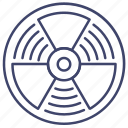 radiation, atomic, nuclear, danger icon