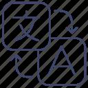 language, text, translate, translation icon