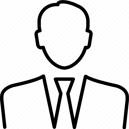 avatar, business, interview, man, person, profile, suit icon