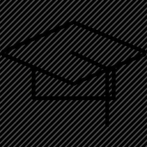 graduate, graduation, hat, oxford, school, student icon