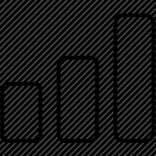 analytics, bar, graph, stat icon