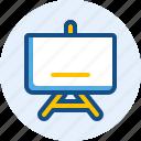 education, presentation, school, whiteboard icon