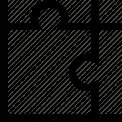 piece, puzzle, square icon