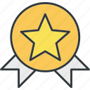 award, badge, medal, rank icon