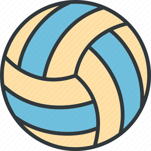 play, sport, volleyball icon