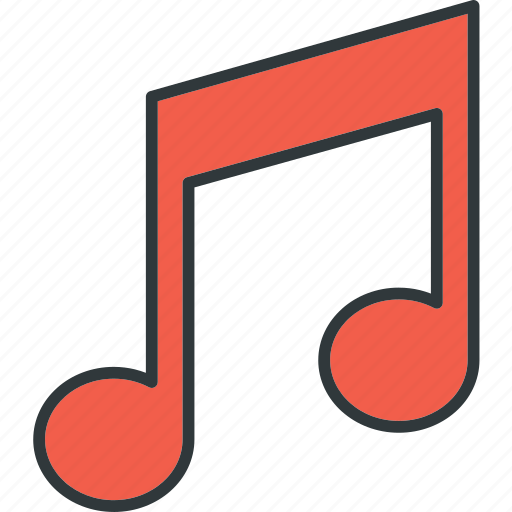 audio, musical, note, sound icon