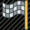 final, flag, square icon