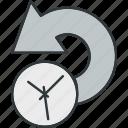 back, redo, undo icon