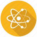 atom, electron, molecular, science icon