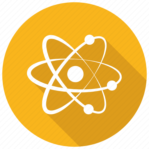 atom, electron, molecular, science icon