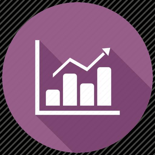chart, diagram, growth icon