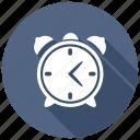 alarm, clock, ring icon