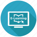 e learning, online, study icon