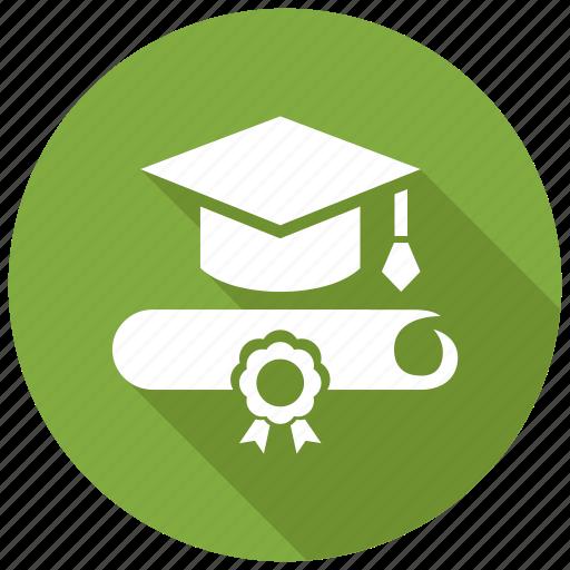 certificate, diploma, graduate, graduation icon