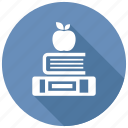 apple, books, knowledge icon