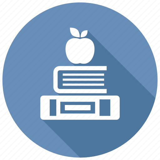 apple, books, knowledge icon