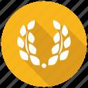 laurel, wreath icon
