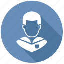 avatar, male, student icon