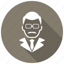avatar, male, teacher icon