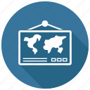 geography, map, world icon