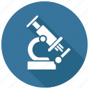 biology, experiment, microscope icon