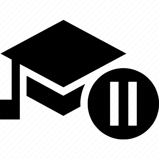 education, graduation, paused, student, university icon