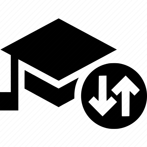 education, school, student, transfer, university icon