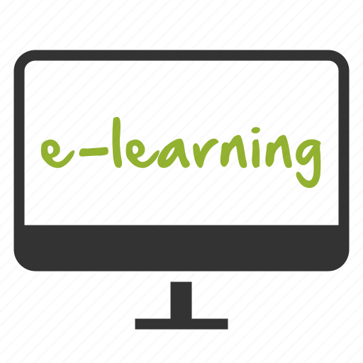 courses, e-learning, learning, online icon