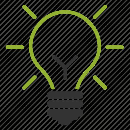 bulb, education, idea, light icon