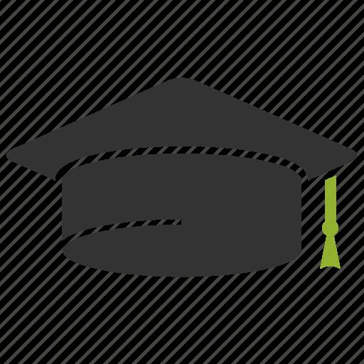 education, graduation, hat, student, university icon
