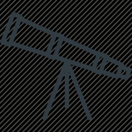 astronomy, education, scope, spyglass, telescope icon