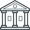 building, court, court building, court of law, courthouse, institute icon