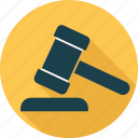 hammer, law, legal insurance icon
